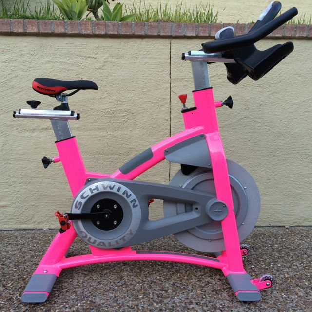 Pink Spinbike For Spinclass And Indoorcycling Biking Workout