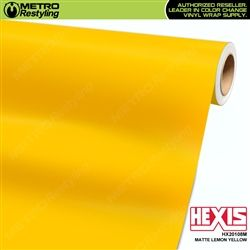 Matte Lemon Yellow Vinyl Wrap Hexis Vinyl Wrap Metro Restyling Vinyl Wrap Vinyl Lemon Yellow