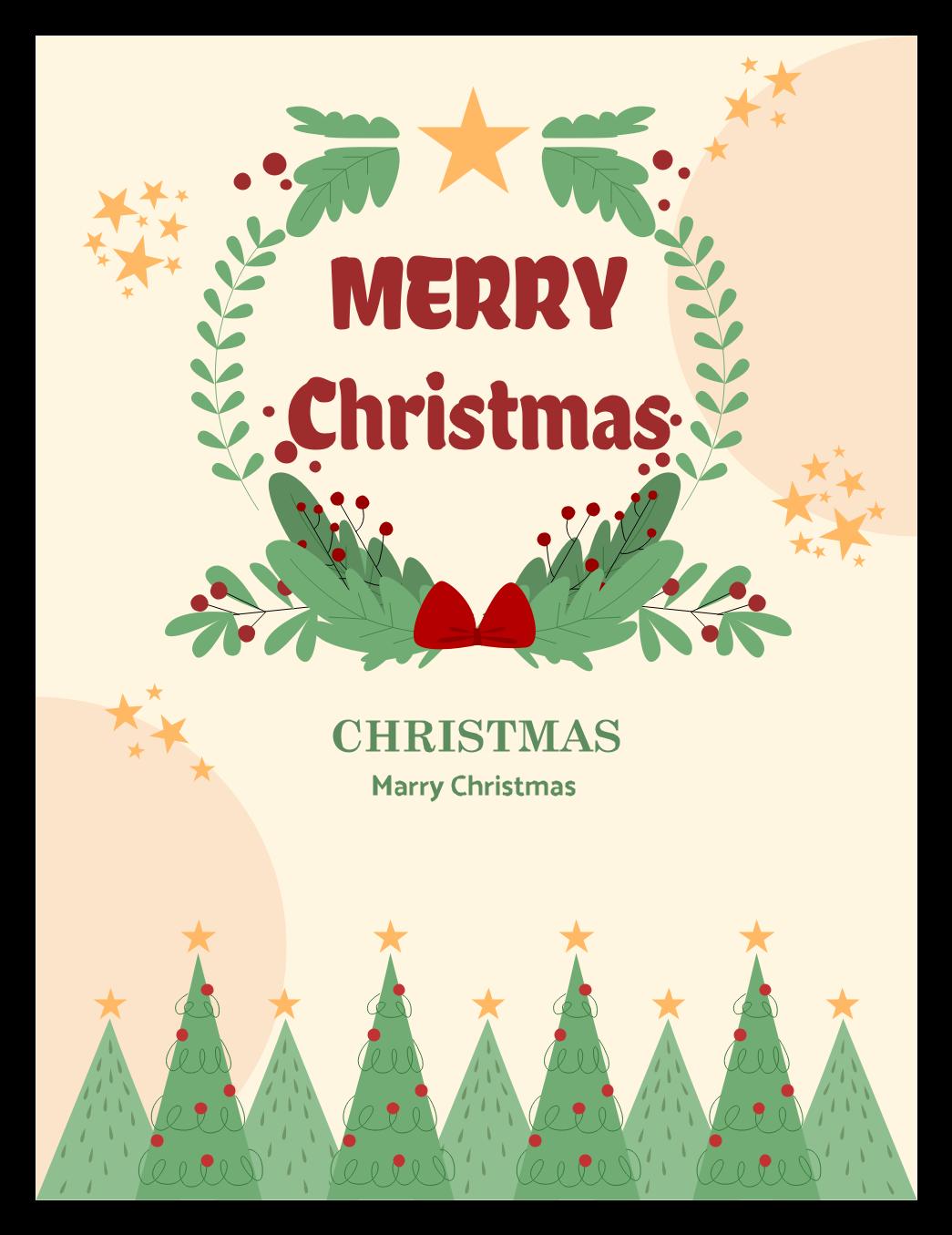 Christmas Card Ideas Template Edrawmax Christmas Card Templates Free Christmas Cards Christmas Greetings