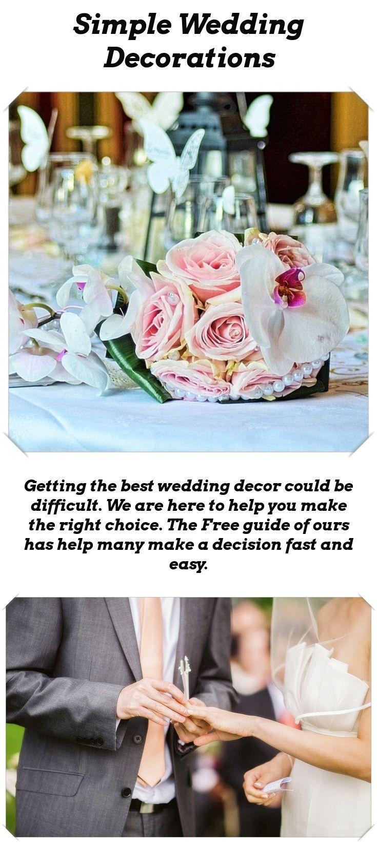 Simple wedding decoration designs  Decoration Ideas For Your Wedding  Wedding Decor Inspiration