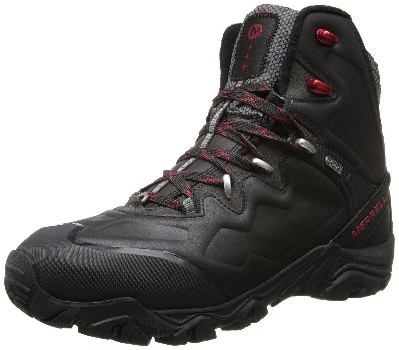 Men's Mid Waterproof Hiking Boot Outdoor Backpacking Shoe(Black 8)