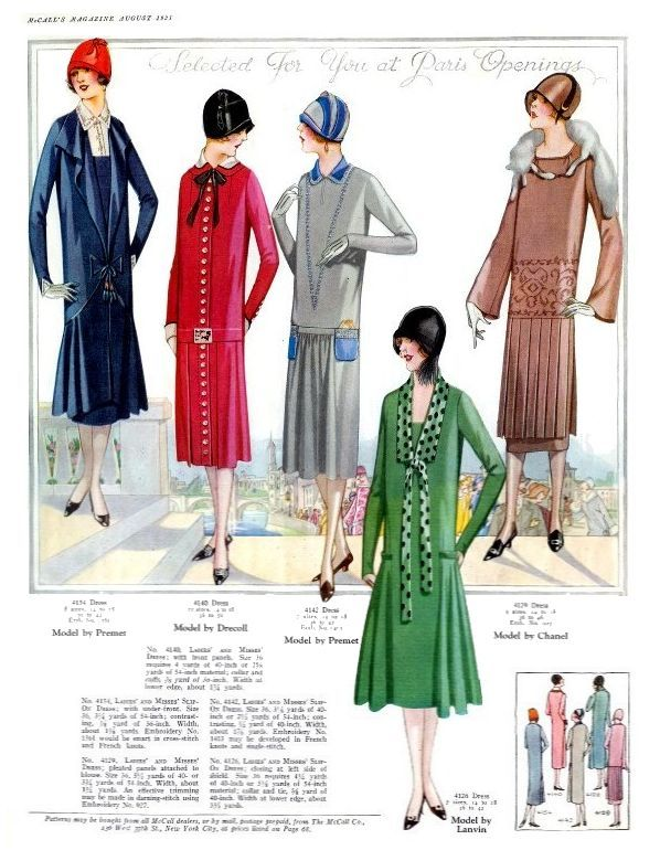 McCalls August 1925 Fashion History Magazine Images | 1920\'s fashion ...