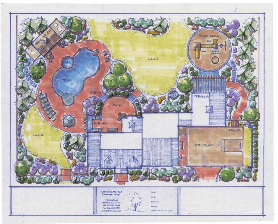 Big Estate Home Landscaping Plans This design layout