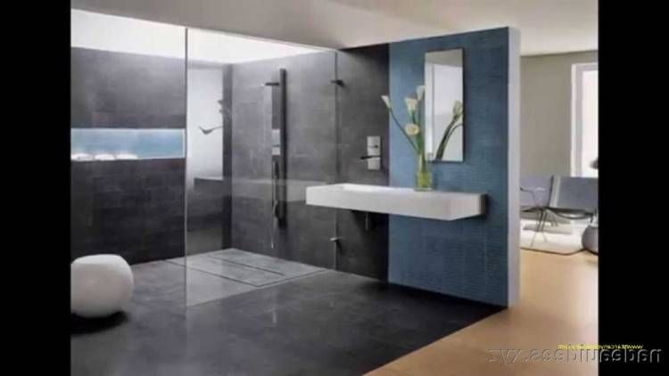 Salle De Bain Moderne En Couleur Salle De Bains Moderne Decoration Interieure Moderne Salle De Bains Gris Et Bois
