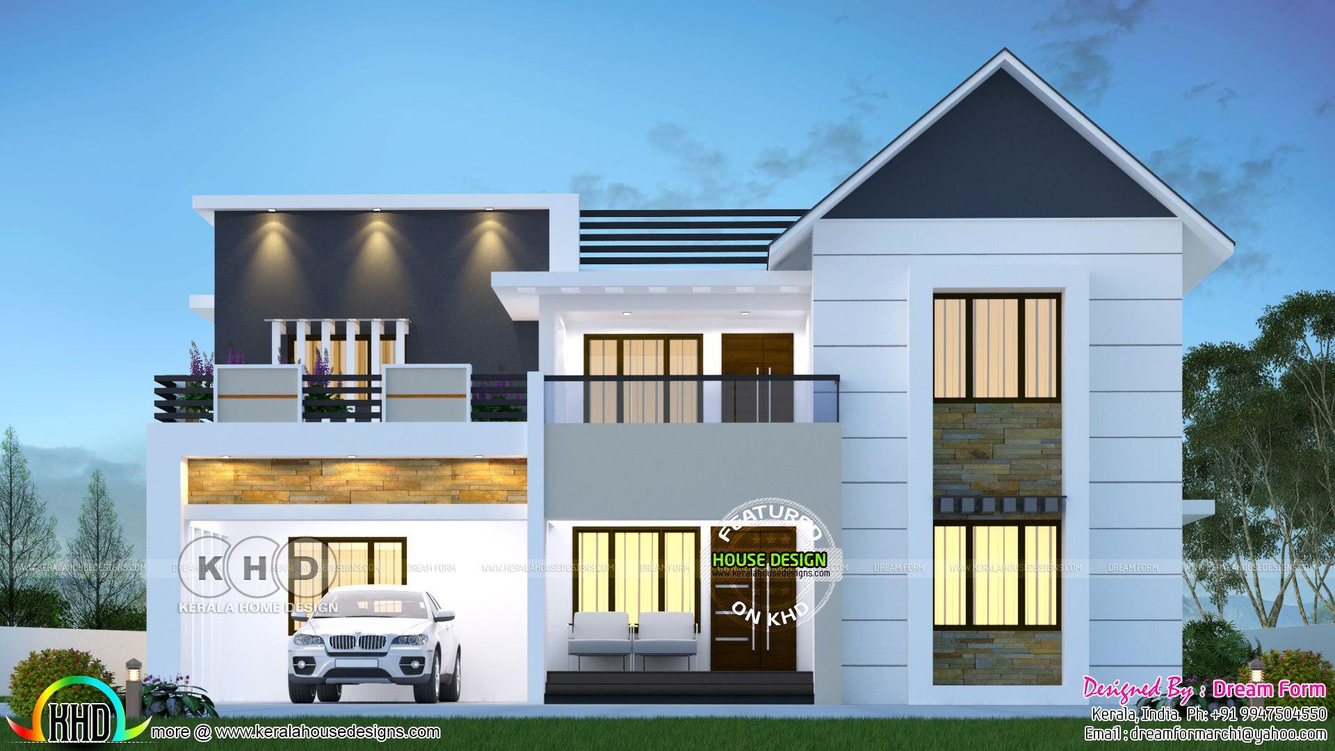 4 Bedroom 2875 Sq Ft Modern Home Design In 2020 Kerala House Design Bungalow House Design 2 Storey House Design