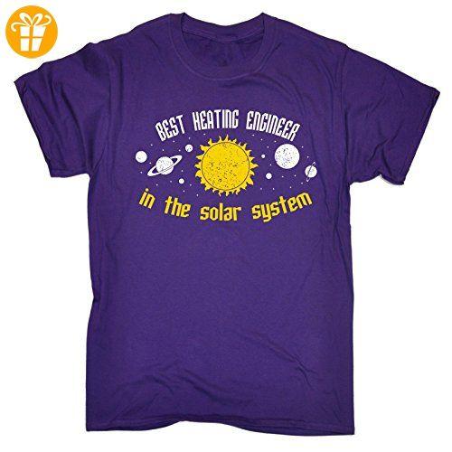 Best ... In The Solar System Herren T-Shirt, Slogan Gr. XX-Large, Violett - Shirts mit spruch (*Partner-Link)
