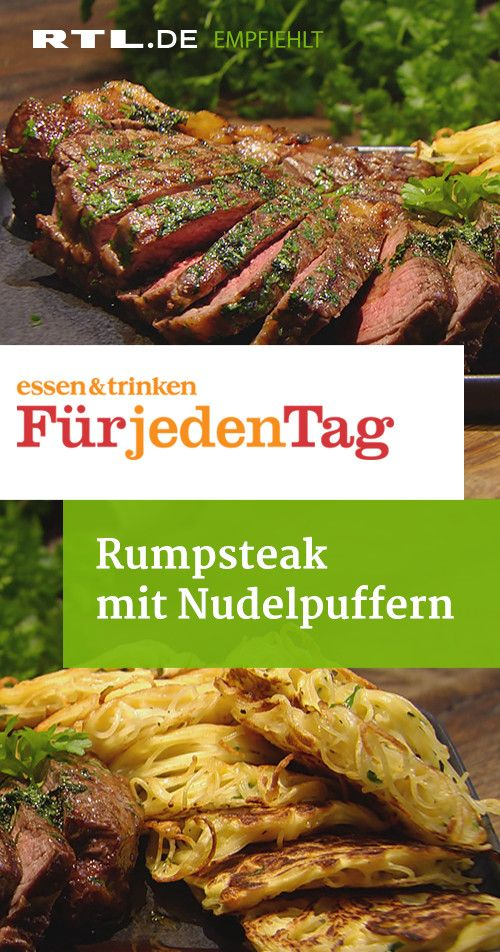 Rumpsteak mit Nudelpuffern #nutritionhealthyeating