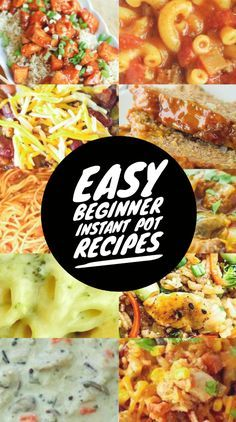 Easy Beginner Instant Pot Recipes images