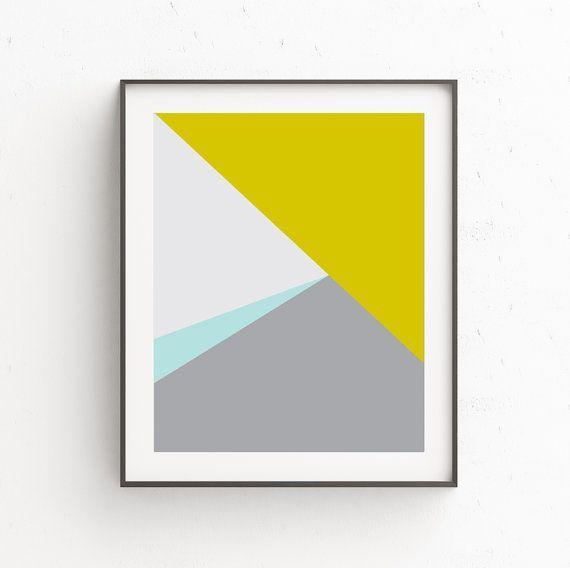 Minimalist Art Modern Wall Art Geometric Print Instant | Home Decor ...