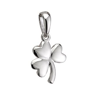 Small shamrock necklace pendant from ireland irish sterling small shamrock necklace pendant from ireland aloadofball Images