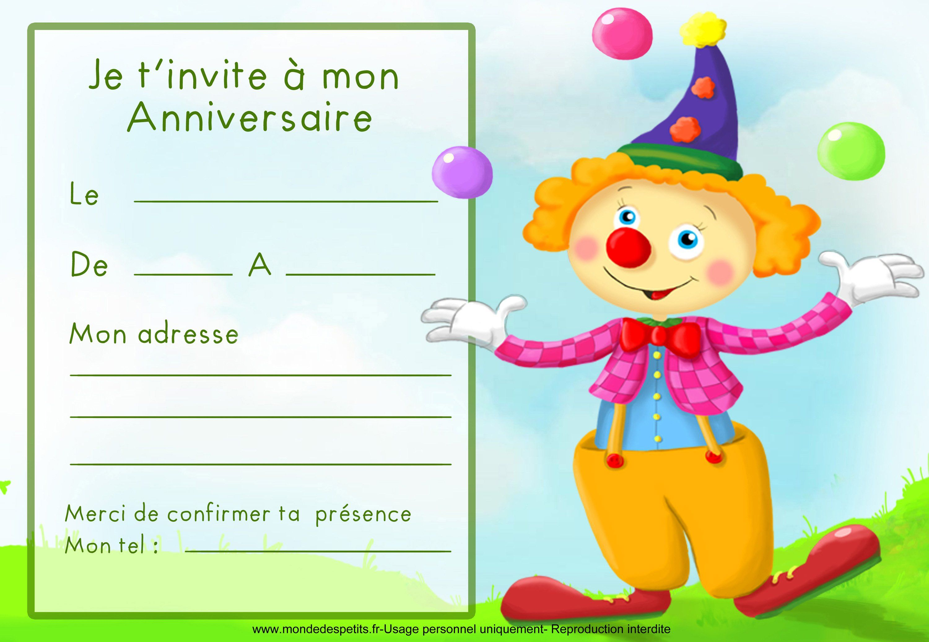 Favori carte invitation anniversaire : Carte invitation anniversaire  OZ97