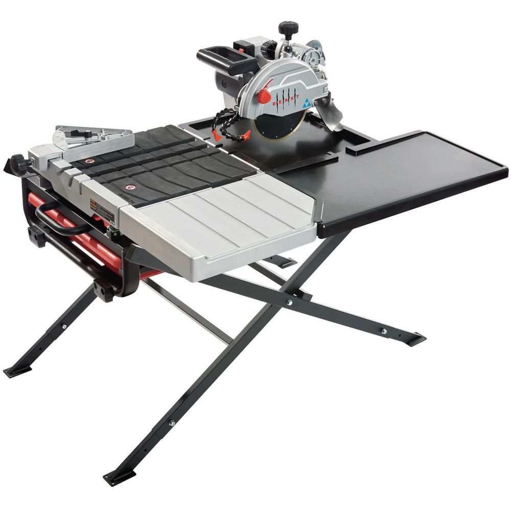 Beast 7 In 13 Amp 156 Volt Wet Tile Saw Kit With Scissor Stand