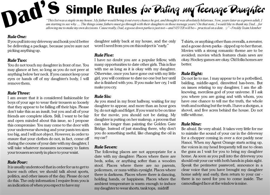 simple dating rules