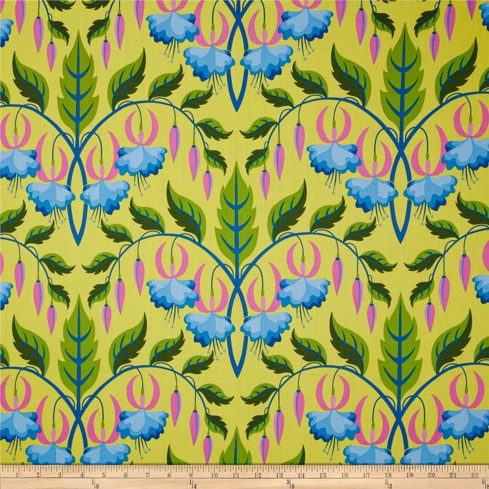 Sweet Lady Jane Fuchsia Teal from @fabricdotcom Designed by Jane ...