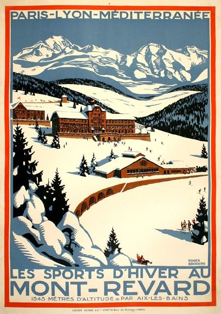 France mont revard winter sports vintage travel for Mont revard