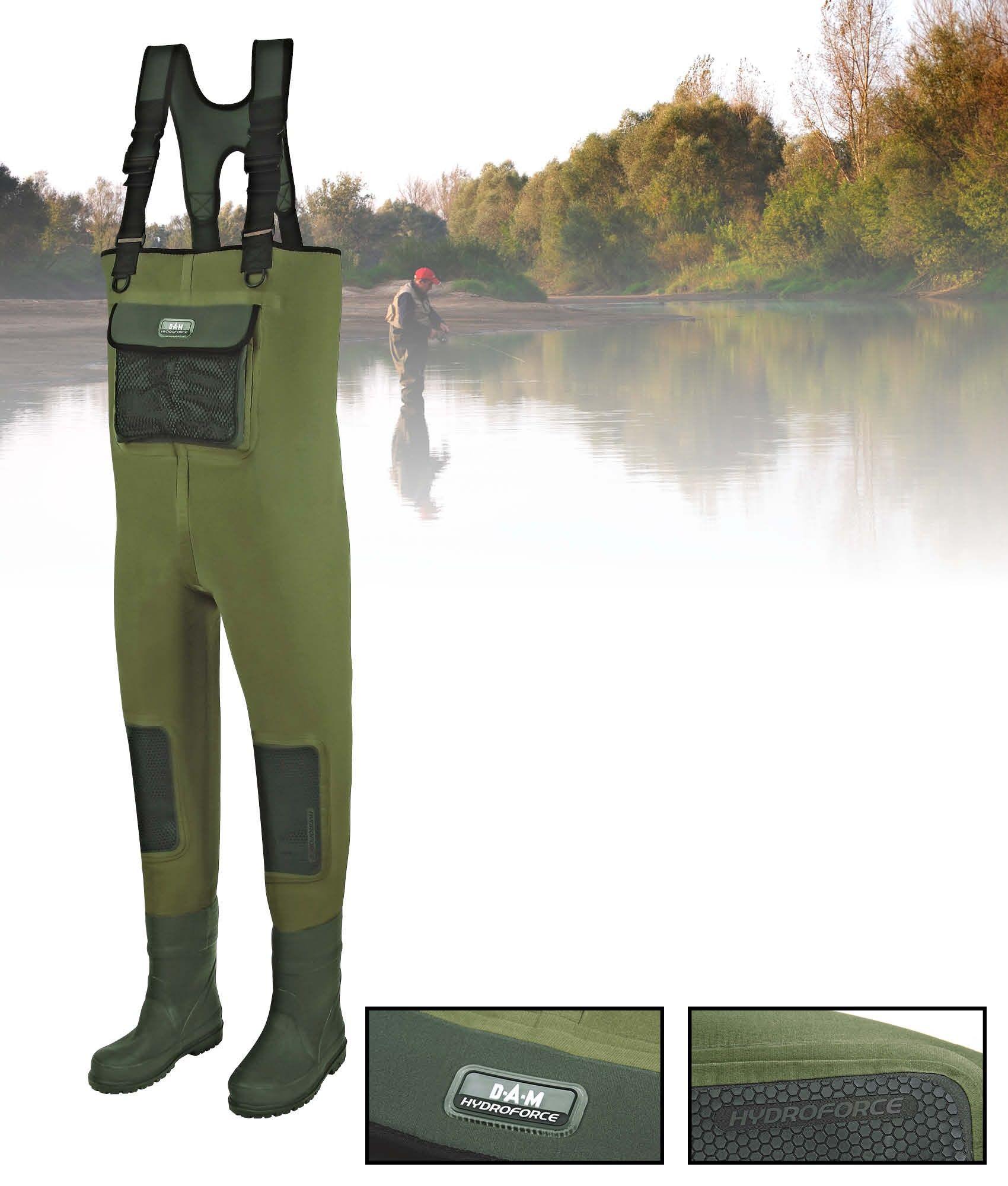 Pêche à la mouche Héros torse Waders pour hommes avec bottes de chasse Waders de pêche Bottes ne
