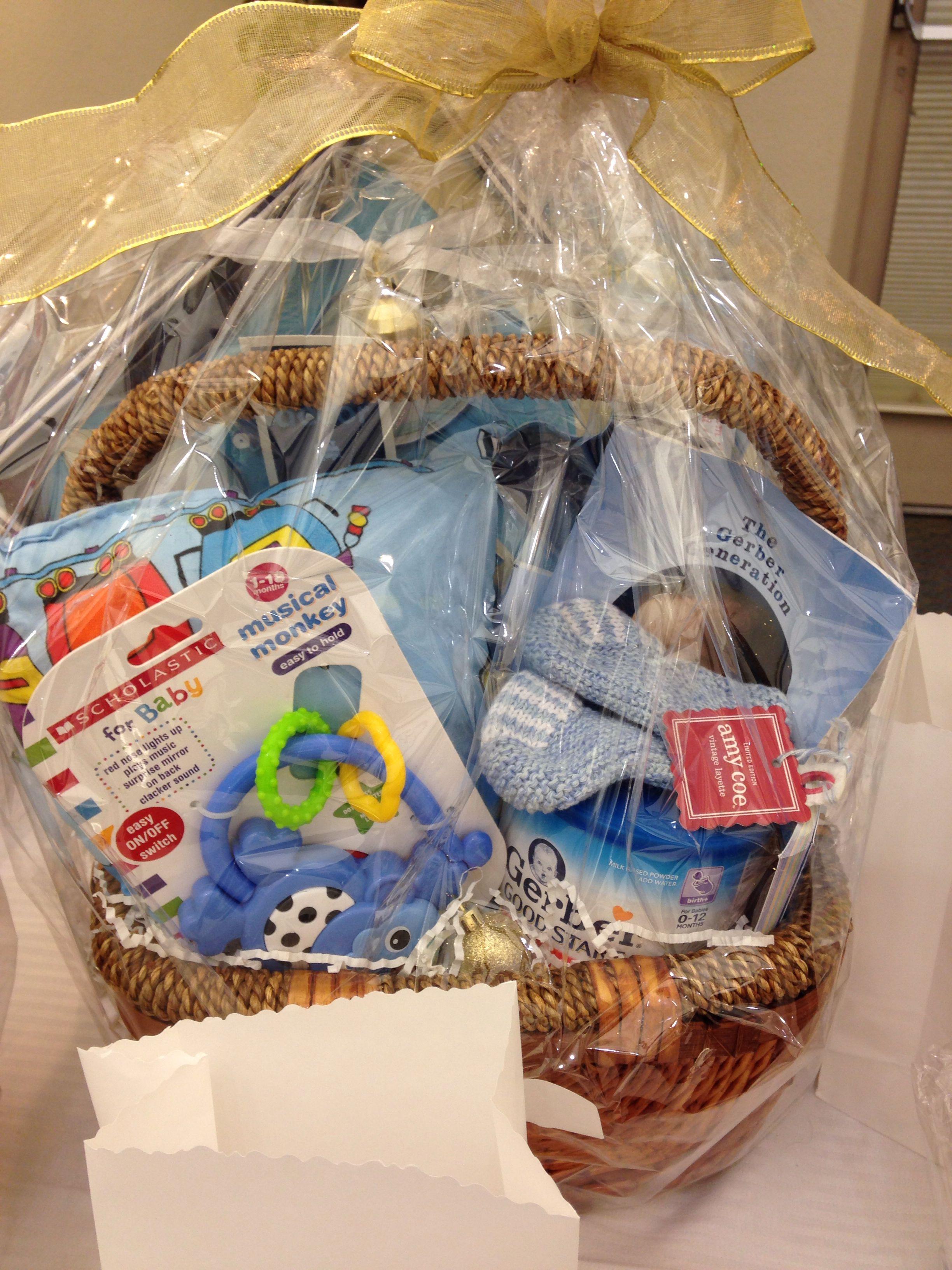 Baby boy basket gift card tree fundraising gift baskets