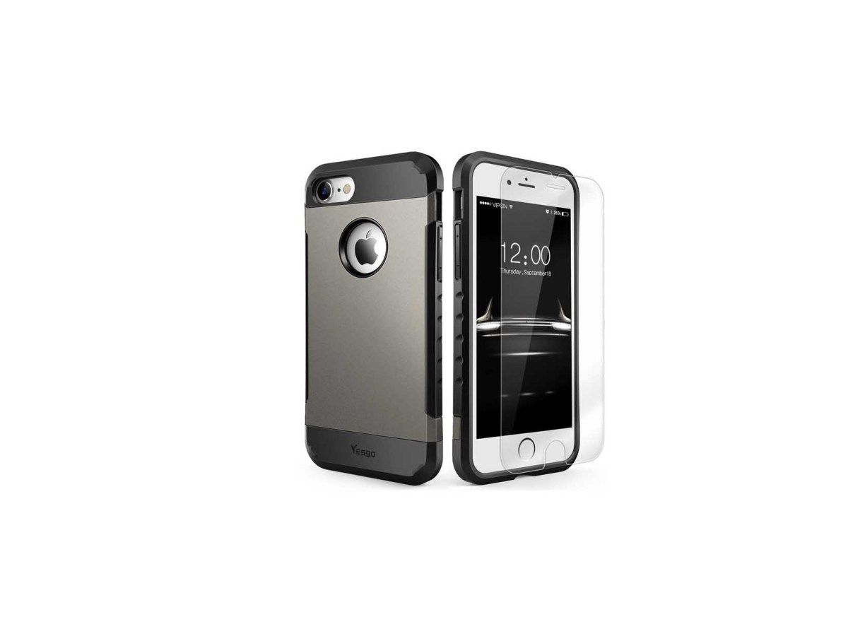 Heavy duty dual layer shockproof iphone 7 case with