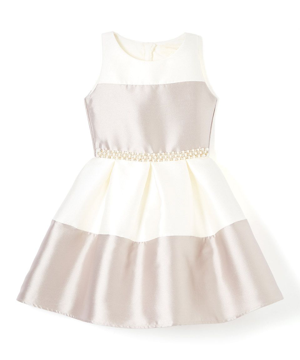 ae95f5fd0e Btween Pewter   Ivory Stripe A-Line Dress - Girls by Btween  zulily   zulilyfinds