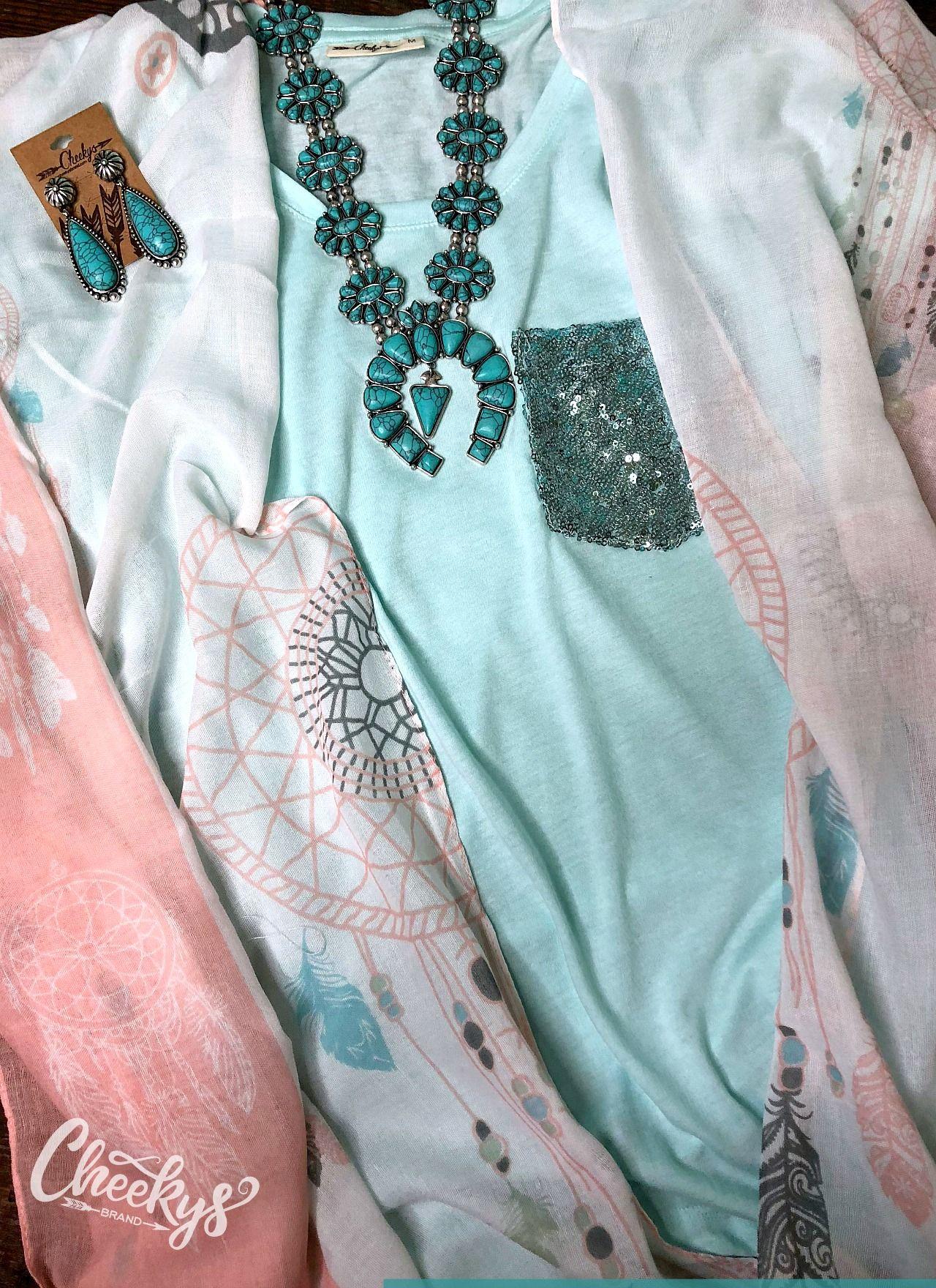 6132b2bcec69 Tiffany Blue sequin scoop tee.  sequin  teeshirt  bling  squashblossom   turquoise  countrygirl  womenswear  womensfashion