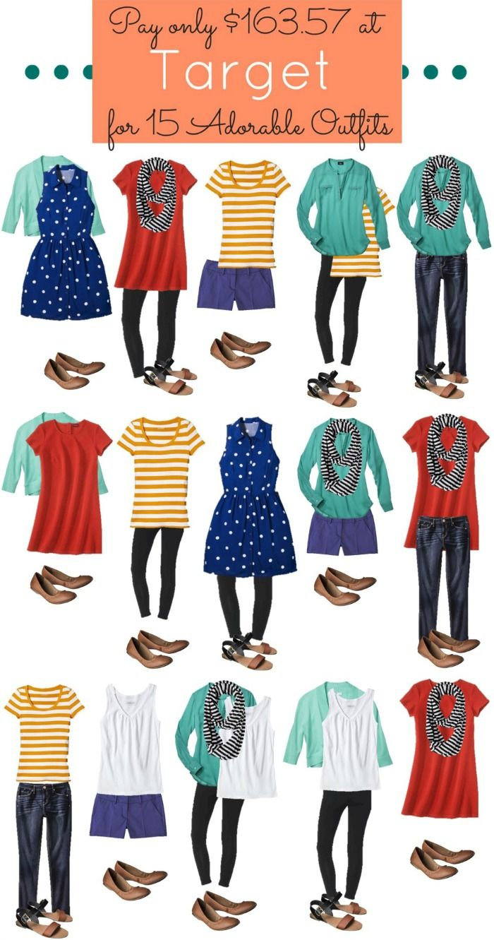 ddfee2429f7 Mix and match outfits from Target. 15 outfits for  164 including shoes!