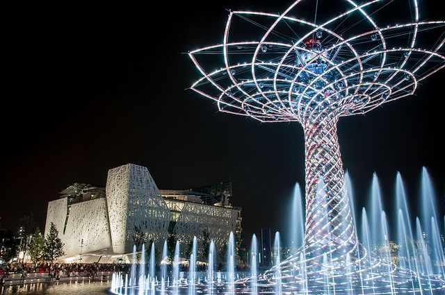 Tree of Life and Italy Pavilion in Expo 2015 Milan