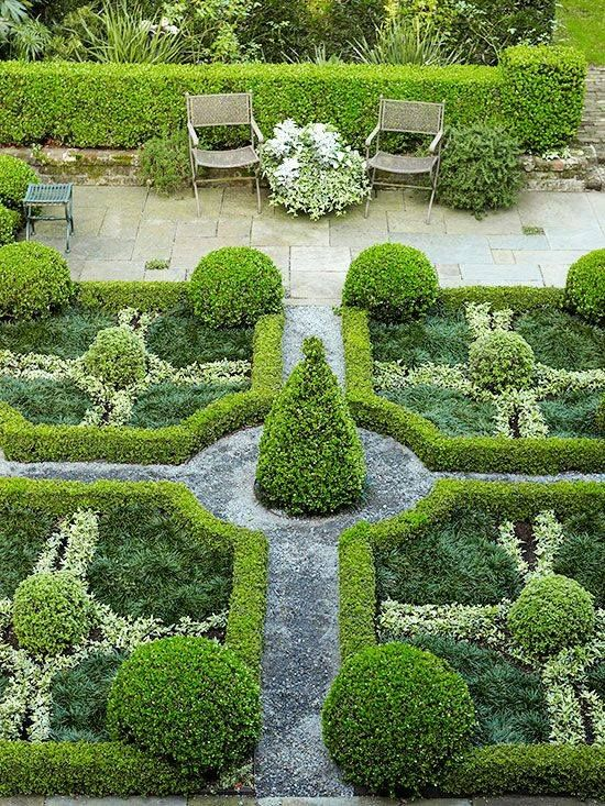 Clear Structure Geometric Shapes And A Symmetrical Layout All Elements Of A Formal Garden So Pleasin Parterre Garden English Garden Design Garden Pictures