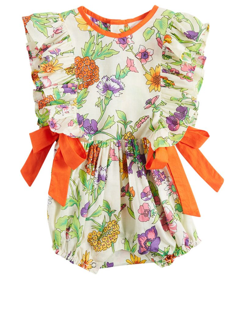 COCO & GINGER Honore Baby Sunsuit Romper In Floral Print