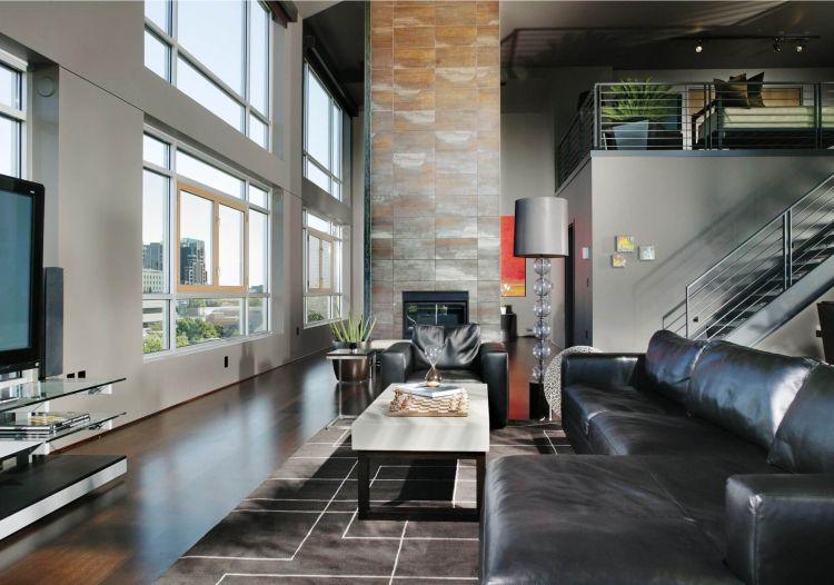 teppich wohnzimmer tipps industrie wohnstil einrichten eckosa leder