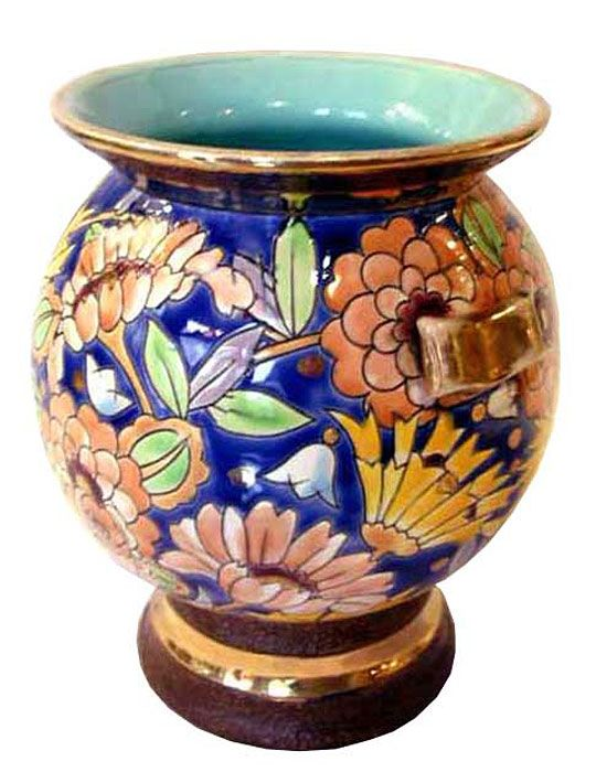 belgian art deco ceramic vase by boch freres | art deco furniture, Hause deko