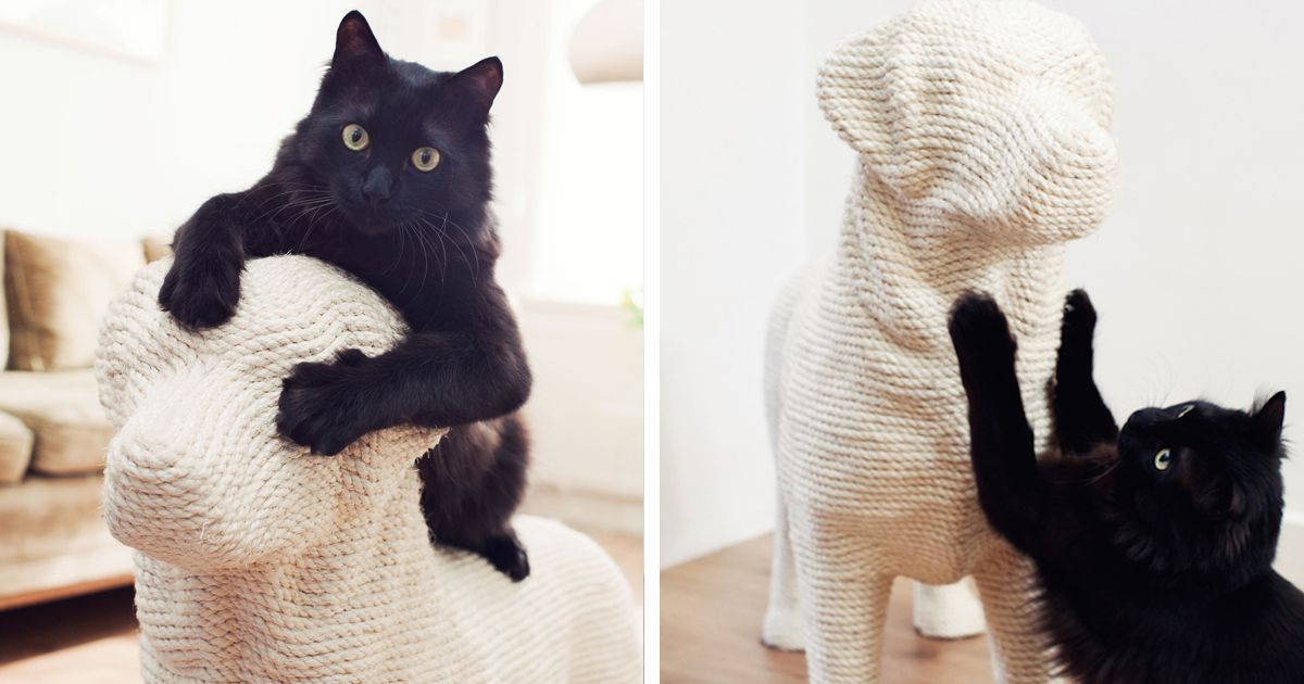 Dog Shaped Scratching Post Lets Cats Have Their Sweet Revenge Scratching Post Cat Scratching Post Fur Babies