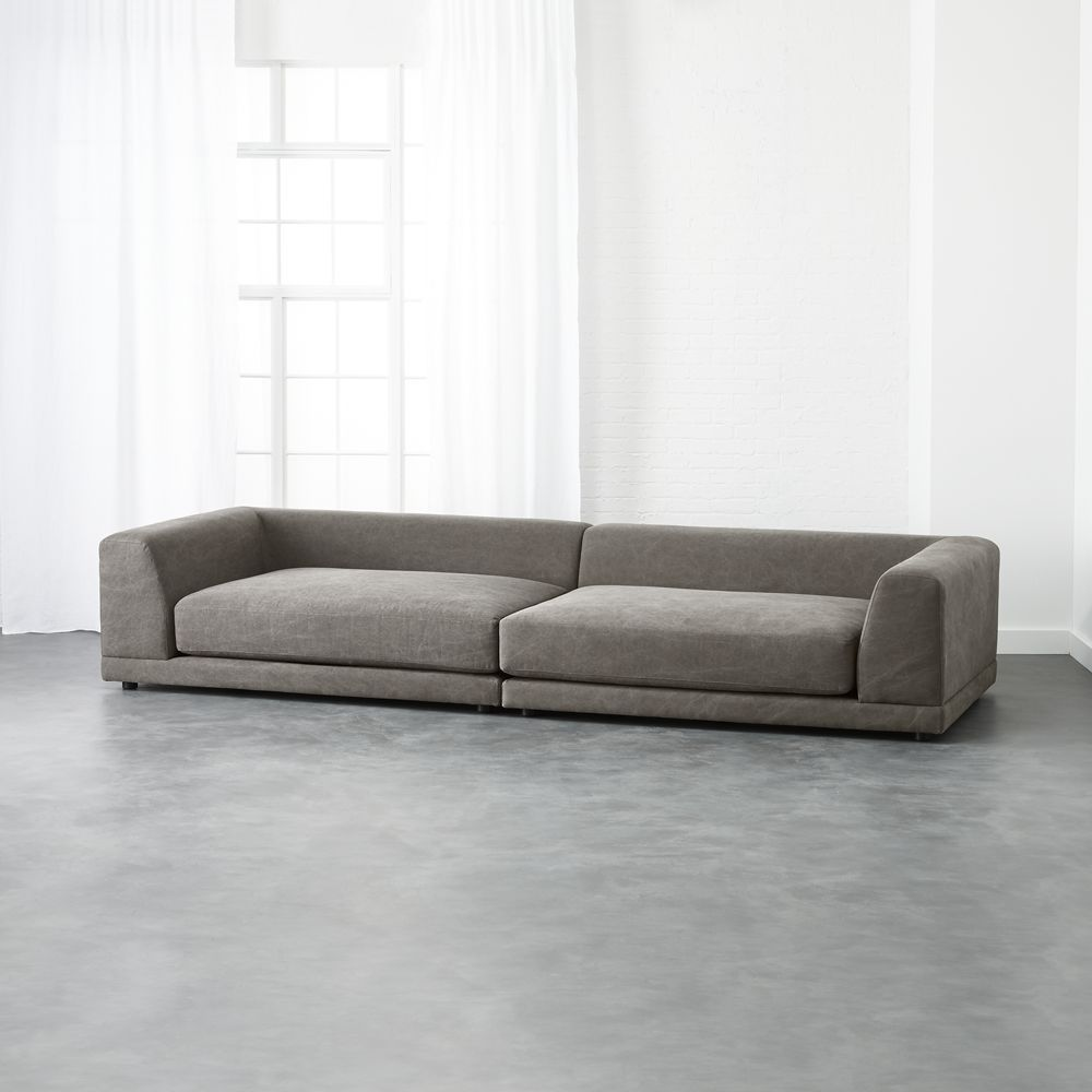 Uno 2 Piece Sectional Sofa 2 Piece Sectional Sofa Modern Sofa