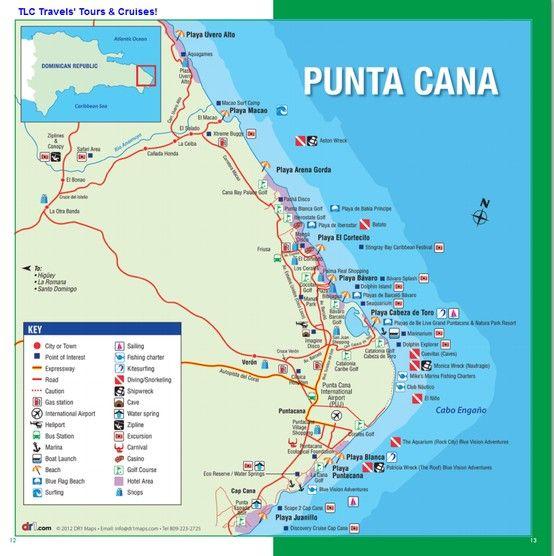Map Of Punta Cana Bavaro Area