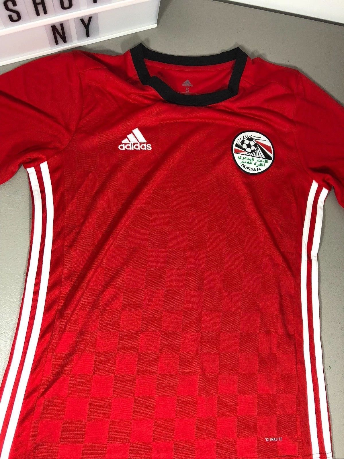 Adidas Mens Egypt Home Jersey World Cup 2018 Small Medium BR3730 Discount  Price 54.99 Free Shipping 52e7efe88