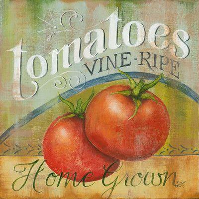 Star Creations Tomatoes Vine Ripe Natural Burlap Box by Kim Lewis Painting Print