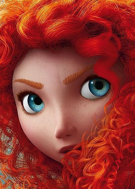 lavish: oneechann: Imagine how much hair the artist had to draw. pixar invented two new programs over three years to create merida's hair ^_^<---- This movie= fail. The only reaason I have a merida board is Because She's pretty