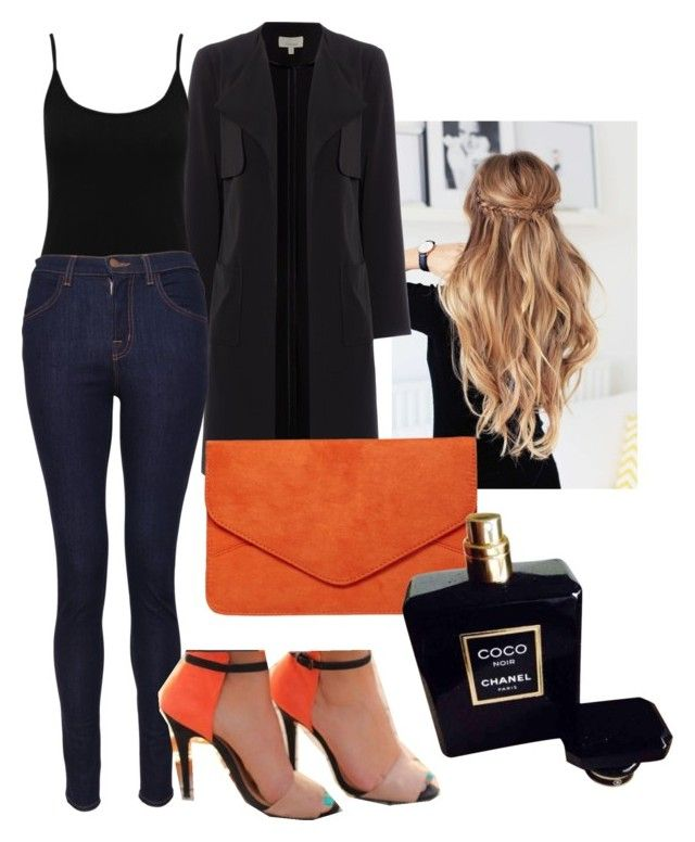 Naranja by zulakais on Polyvore featuring Belleza, Chanel, Dorothy Perkins, M&Co and J Brand