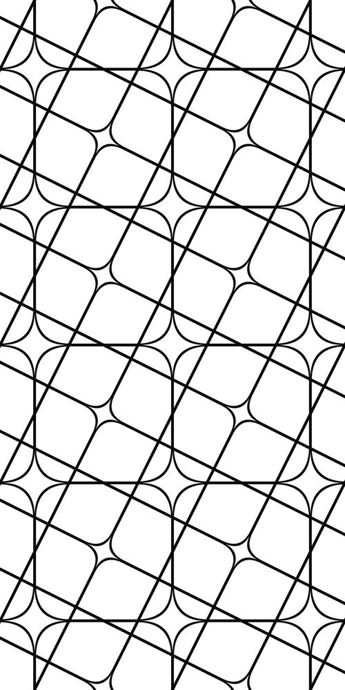 Seamless monochrome angular curved grid pattern | Paterns in 2019