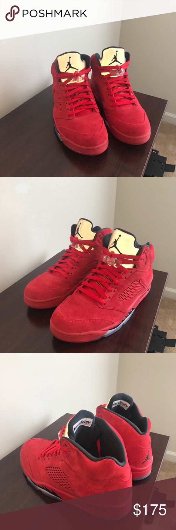 d4fae1a8a017 Jordan 5 red suede Size 11 5 used Air Jordan Shoes Athletic Shoes ...