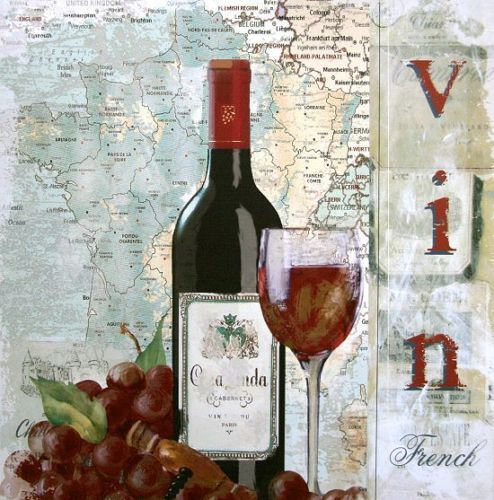 Carol-Robinson-Vin-Fertig-Bild-30x30-Wandbild-Wein-Kueche Wina - wandbilder für die küche