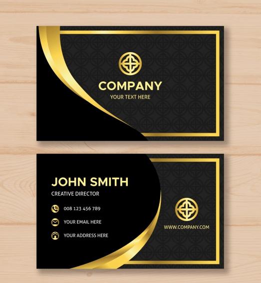 Luxurious Golden Business Card Free Business Cards Luxury Business Cards Business Card Layout Design