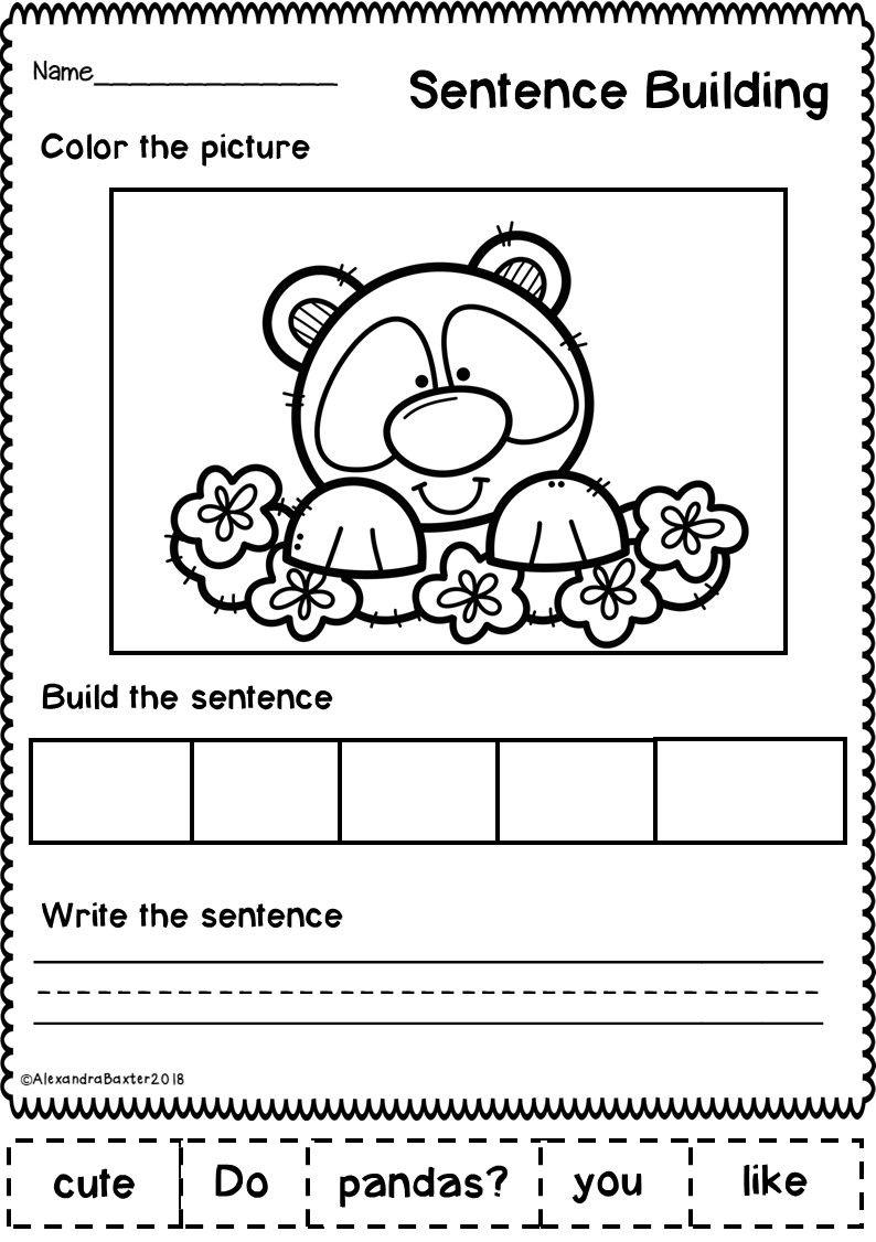 Spring Sentence Building Sentence building, Sentence