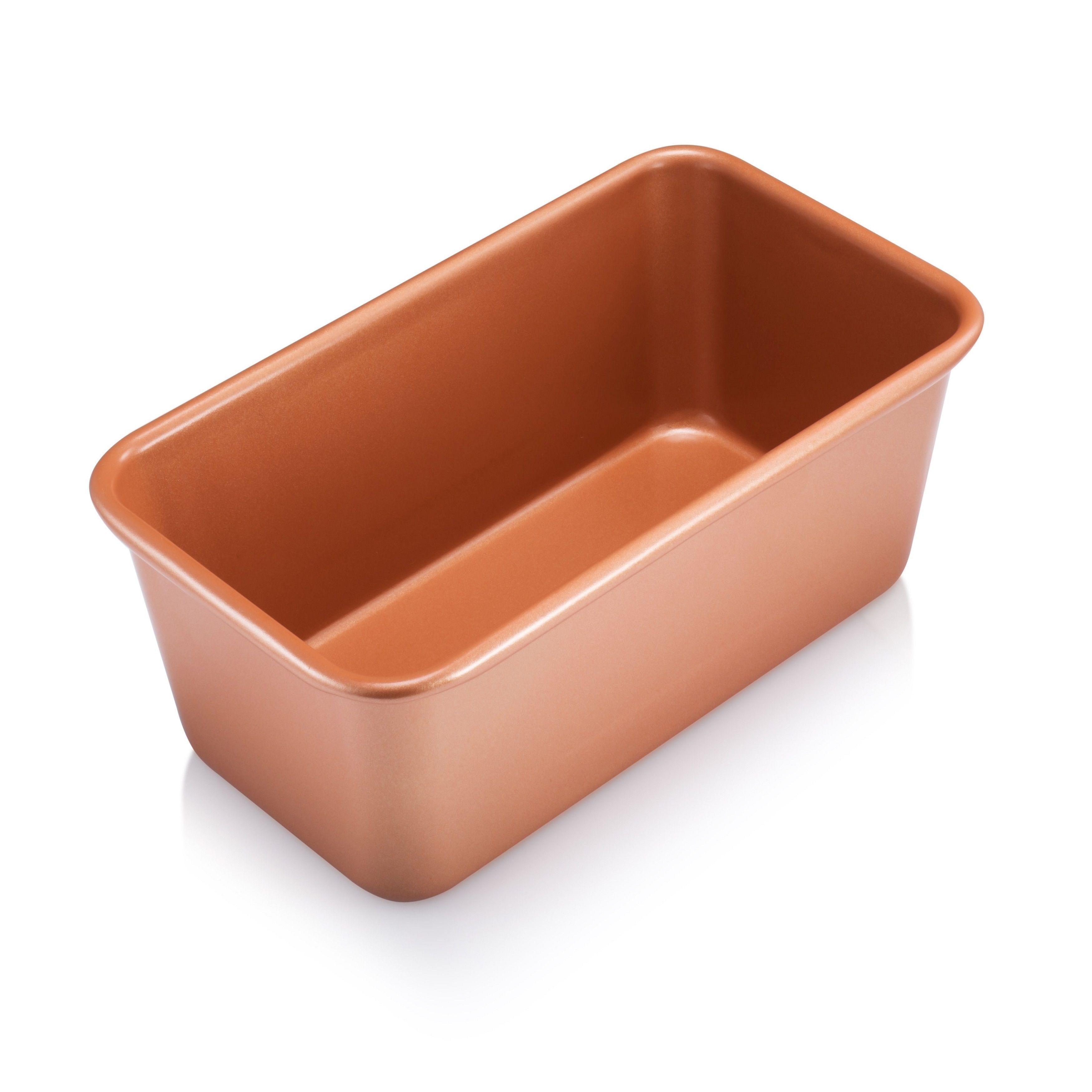 Gotham Steel Loaf Baking Pan Non Stick Ti Ceramic Copper Loaf