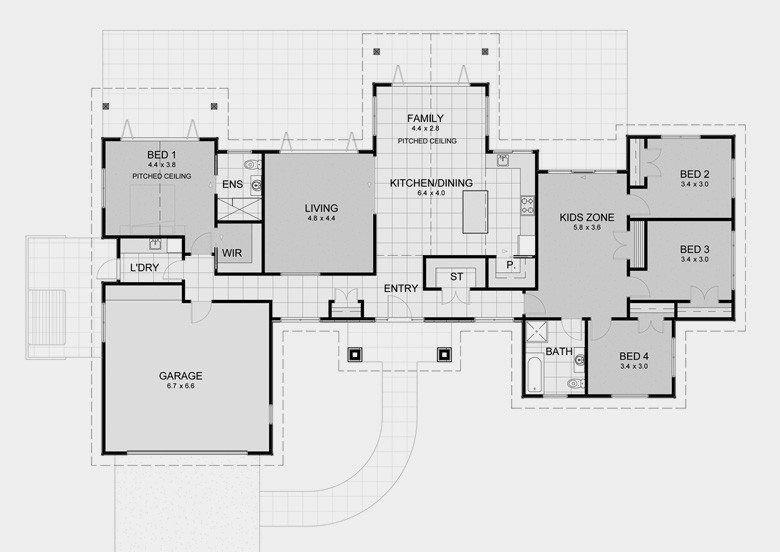 Custom Luxury Home Builders Nz 4 Bedroom House Plans Bedroom House Plans Bedroom Floor Plans