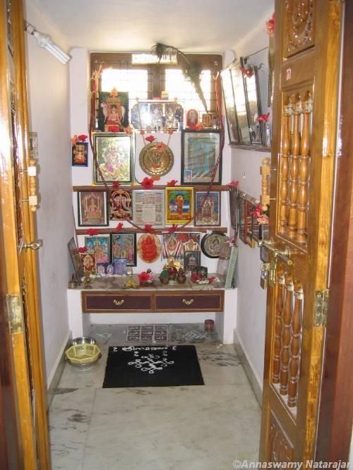 Pooja room mandir design gharexpert temple pooja room design temple room pooja rooms for Design of mandir in living room