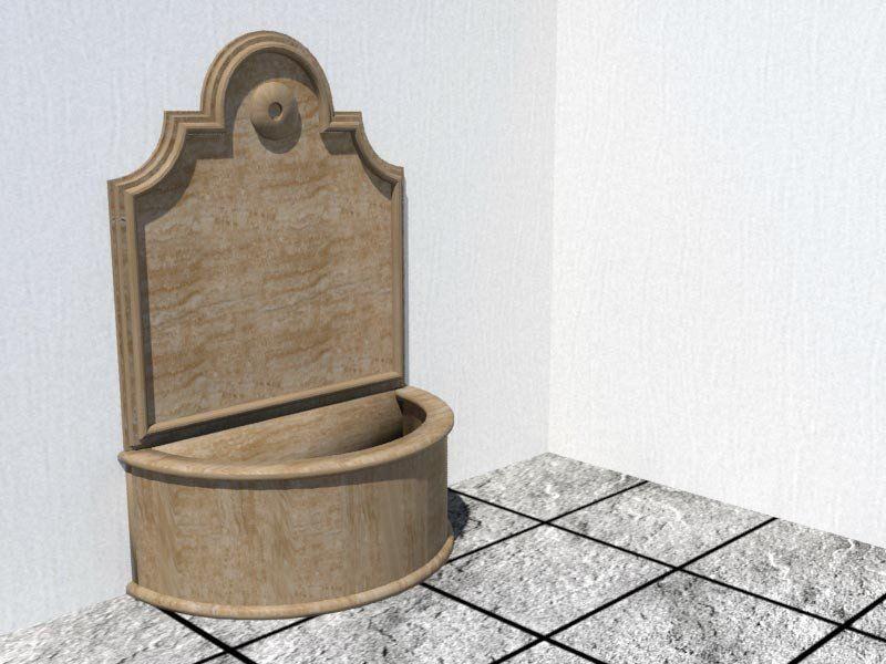 fuente de agua de pared modelo fabricada en piedra natural
