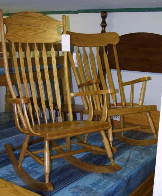 Mennonite made rocking chairs, Boston Rockers, Brentwood Rockers ...