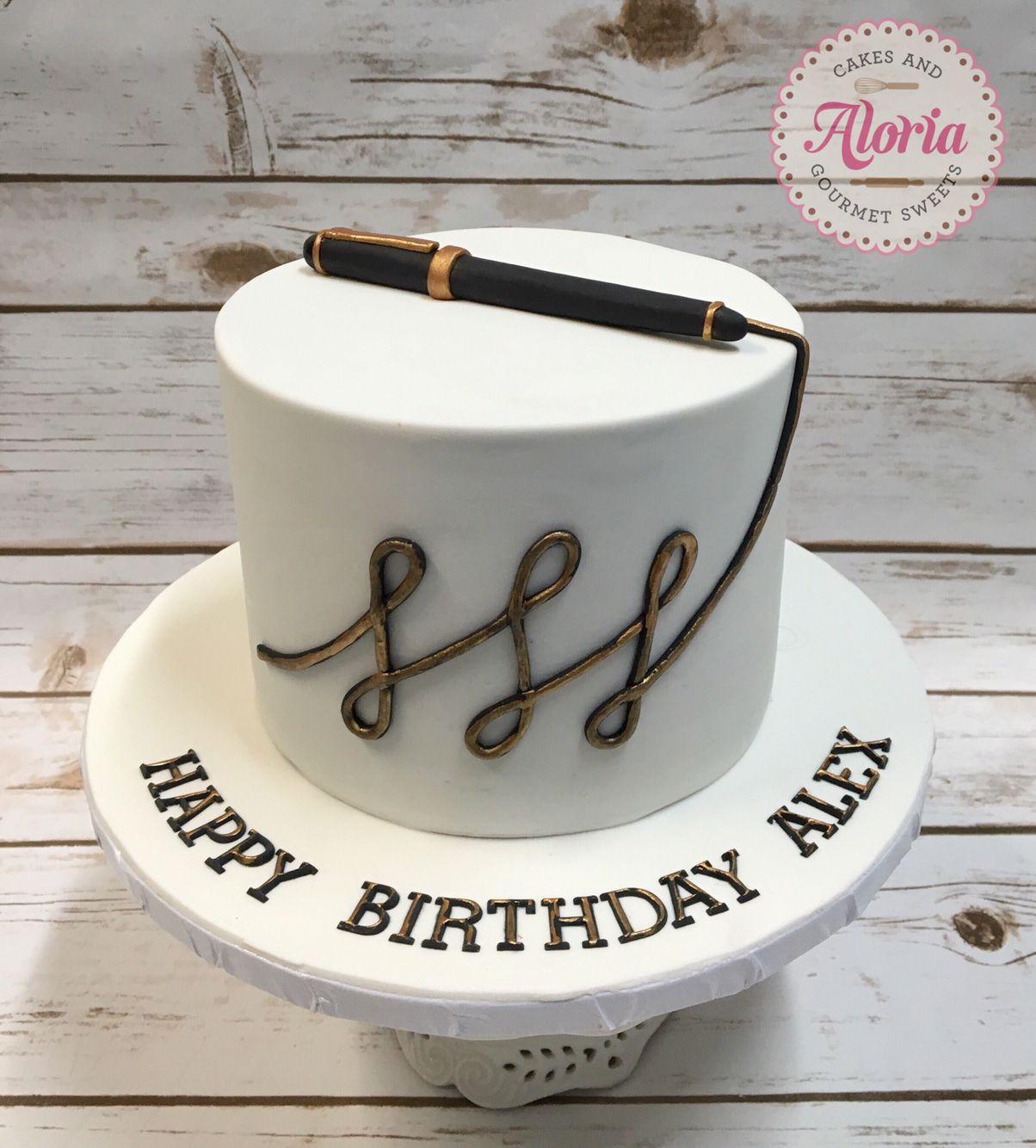 Wondrous Birthday Cake Grown Up Birthday Cake Fondant Pen With Images Funny Birthday Cards Online Benoljebrpdamsfinfo