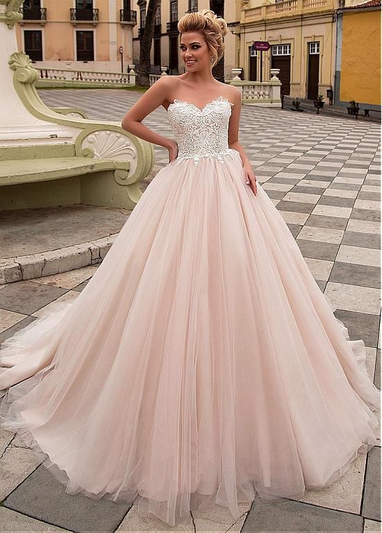 Buy discount Delicate Tulle & Organza Sweetheart Neckline Ball Gown ...