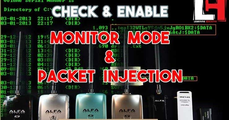Check And Enable Monitor Mode Packet Injection In Kali